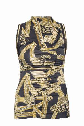 4141160c3f51f ... Baroque motif top with gathers od Versace Jeans