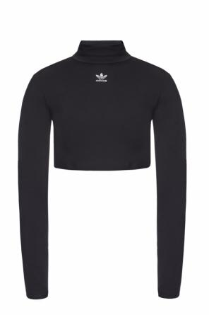 Top with a stand up collar and an embroidered logo od ADIDAS Originals