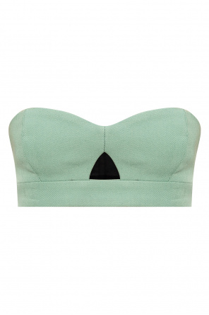 Open-shoulder crop top od Ami Alexandre Mattiussi