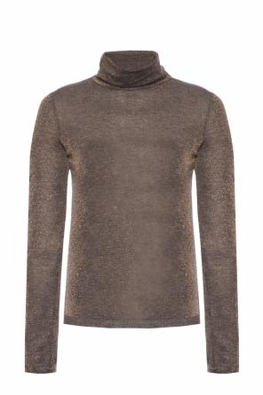 'esme shimmer ls roll' turtleneck sweater od AllSaints