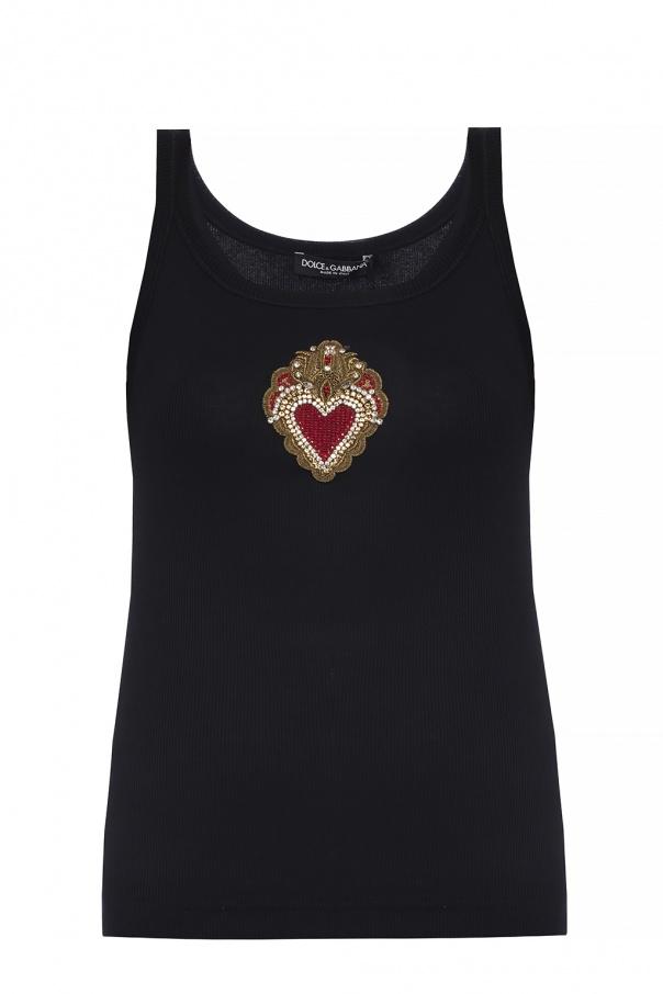 455ce7e389a18 Embellished tank top Dolce   Gabbana - Vitkac shop online