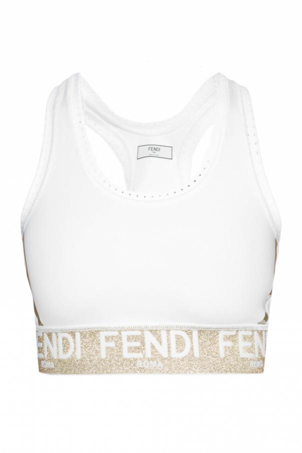 61b08b6c1983b Logo cropped top Fendi - Vitkac shop online