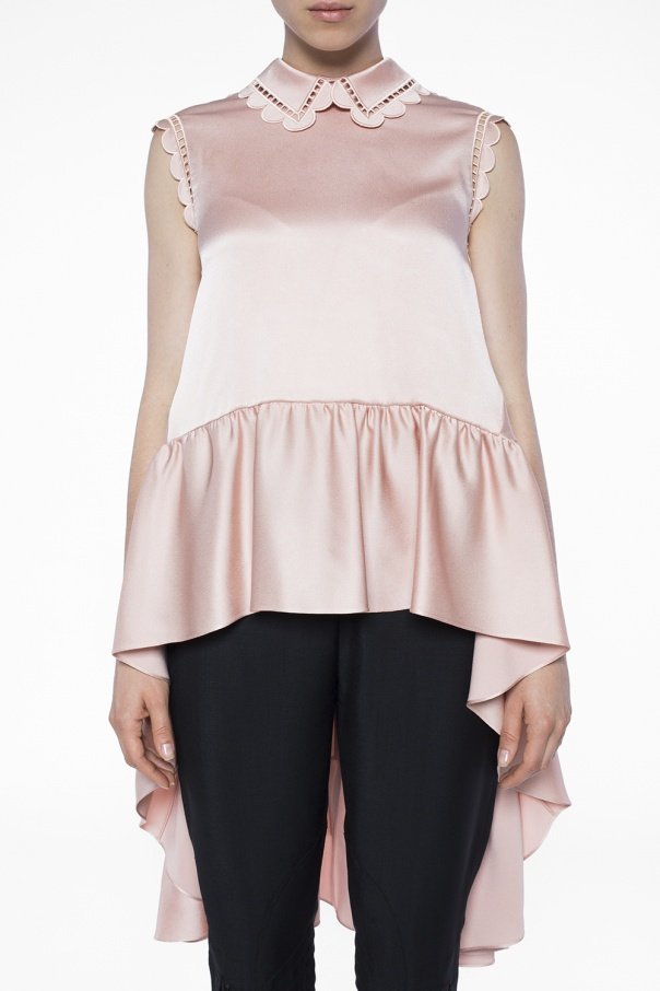 Satin top with ruffle od Fendi