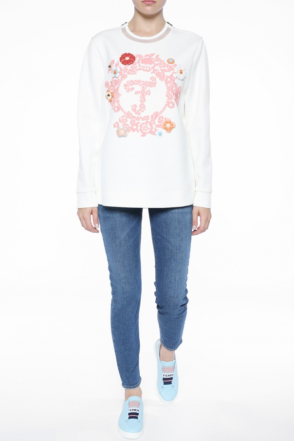 Embellished sweatshirt od Fendi