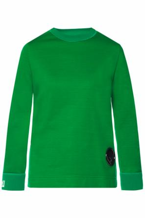 Asymmetrical sweatshirt with logo od Fendi