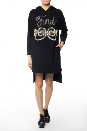 Pearl-applique sweatshirt od Fendi
