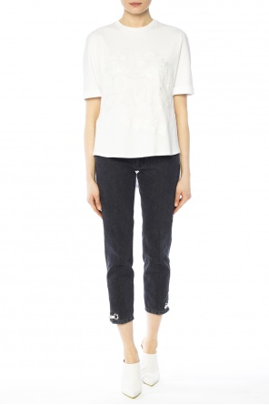 Sequinned asymmetrical t-shirt od Fendi