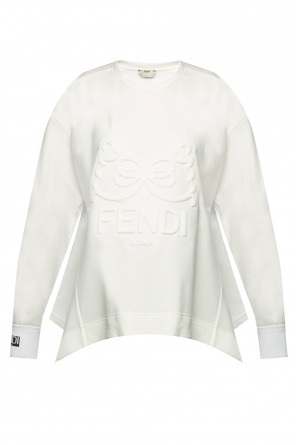 Embossed asymmetrical sweatshirt od Fendi