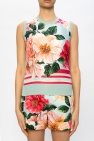 Dolce & Gabbana Floral-printed silk top