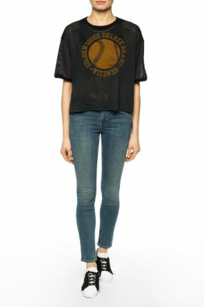 T-shirt with asymmetric top od Golden Goose