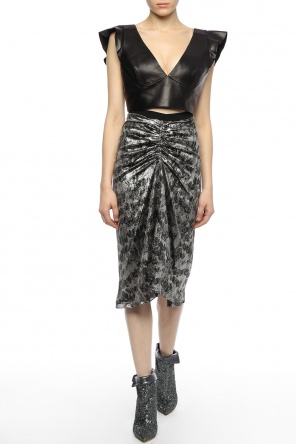 Cropped leather top od Isabel Marant