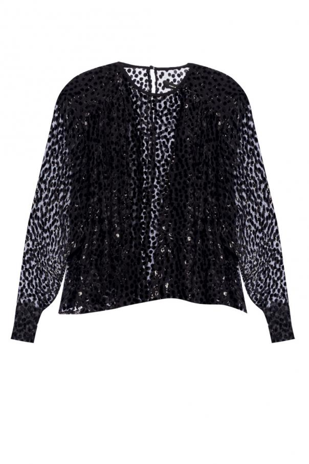 'midway' patterned longsleeve top od Isabel Marant