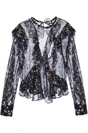 Patterned ruffle shirt od Isabel Marant