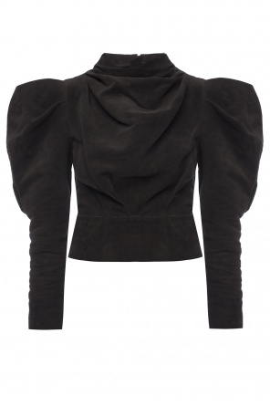 Draped velvet top od Isabel Marant