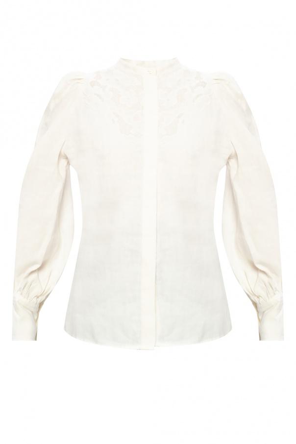 Isabel Marant Linen top with openwork trim