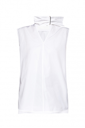 Asymmetrical top with a logo od JIL SANDER+