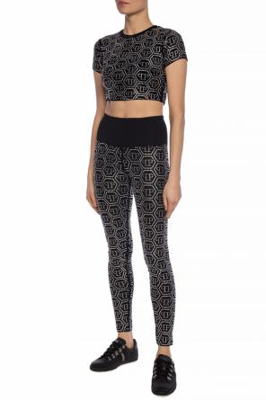 Crystal-embellished cropped top od Philipp Plein
