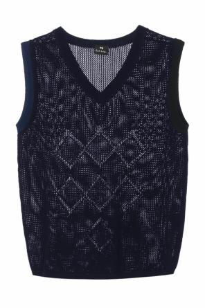 Sleeveless braided sweater od Paul Smith