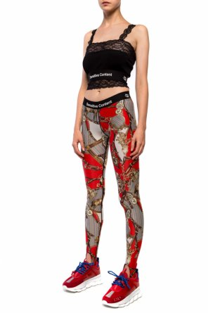 Crop top with decorative straps od Palm Angels