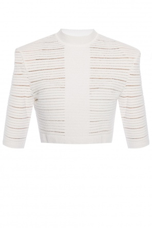Textured crop top od Balmain