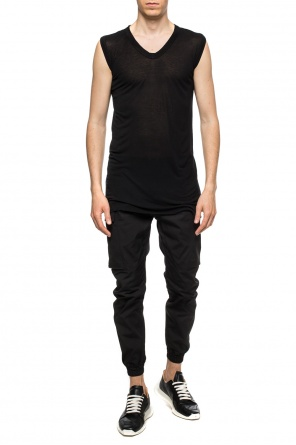 Sheer sleeveless top od Rick Owens