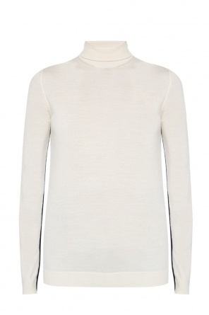 Turtle neck top with embroidered logo od Lanvin