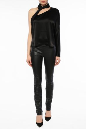 One-shoulder top od Lanvin