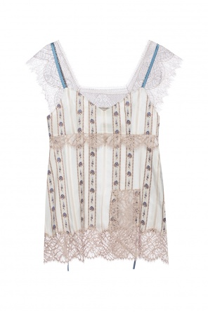Embroidered silk top od Lanvin