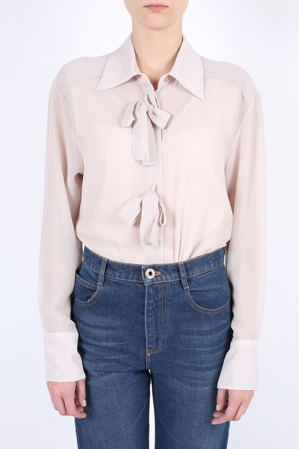 7a9332e8798 Oversized shirt with bows See By Chloe - Vitkac shop online