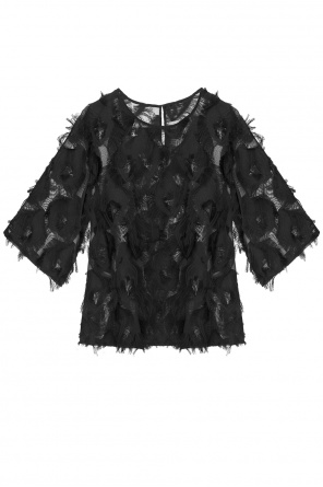 Fringed sheer top od See By Chloe