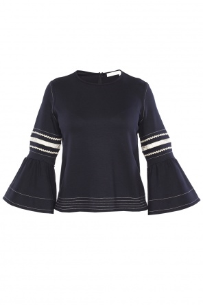 Cropped ruffle top od See By Chloe
