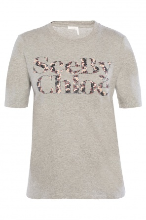 Floral-logo t-shirt od See By Chloe
