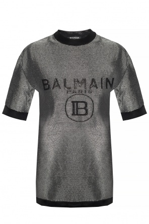Logo-embroidered t-shirt od Balmain