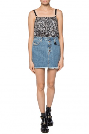 Cropped top with leopard print od Diesel