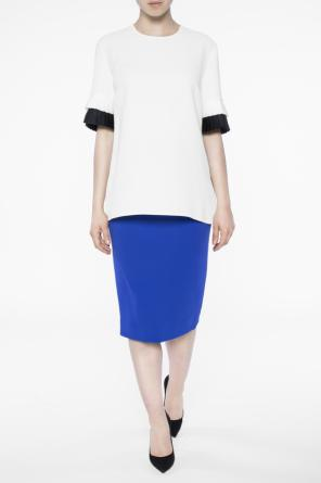 Blouse with pleated inserts od Victoria Victoria Beckham