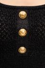 Balmain Cropped woven top