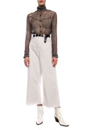 Patterned sheer top od Rag & Bone