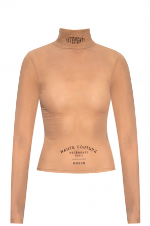 Sheer top with logo od VETEMENTS