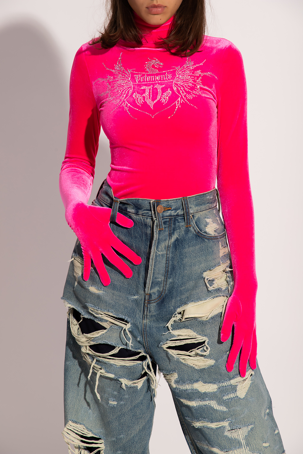 VETEMENTS Top with gloves