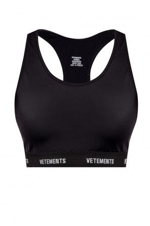 Logo-embroidered sports bra od Vetements