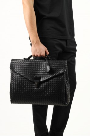Large black intrecciato briefcase od Bottega Veneta