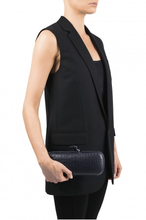 Crocodile skin clutch od Bottega Veneta