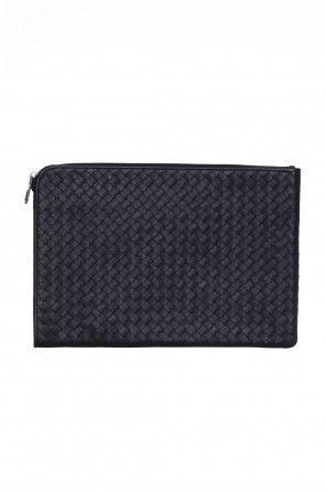 Black intrecciato document case od Bottega Veneta