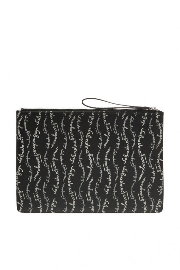 Logo-embossed clutch od Salvatore Ferragamo