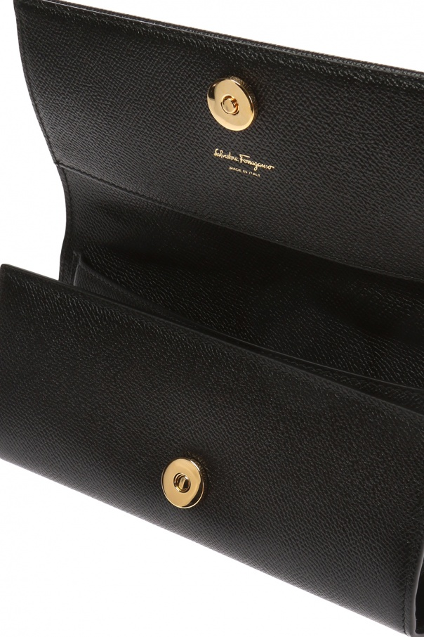 Appliquéd wallet on shoulder strap od Salvatore Ferragamo