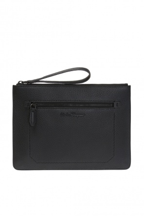 Clutch with metal logo od Salvatore Ferragamo