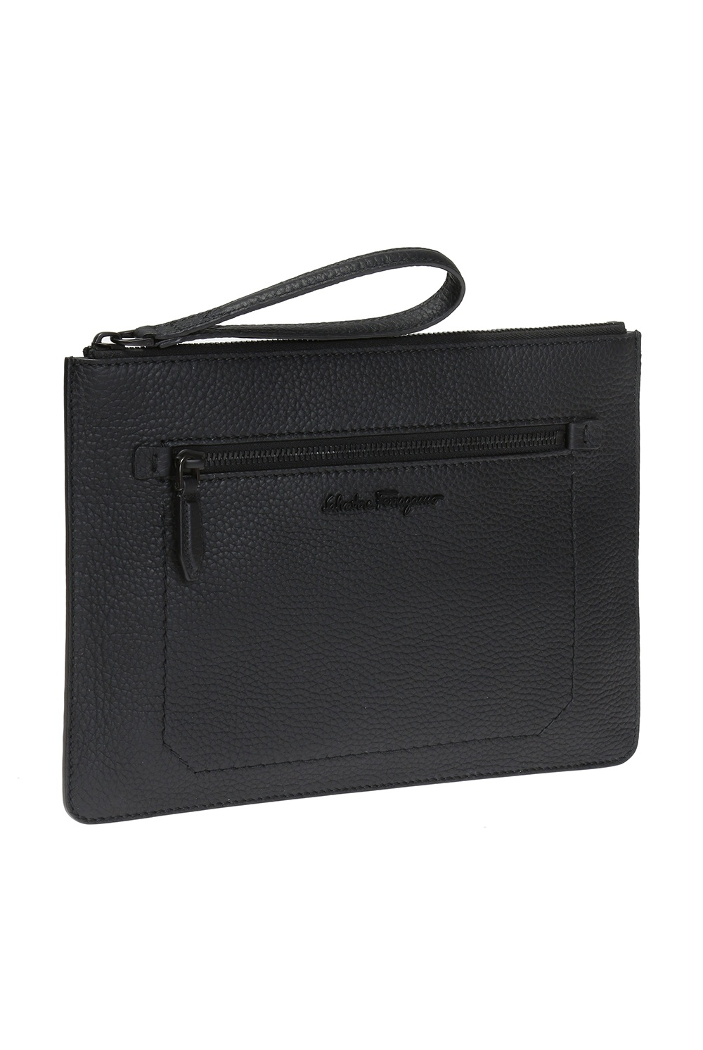 Salvatore Ferragamo Clutch with metal logo