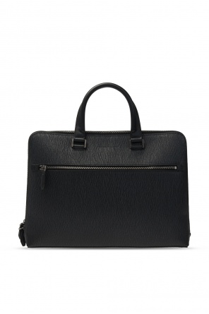 'grigio' leather briefcase od Salvatore Ferragamo
