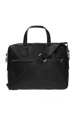 Laptop bag with embossed logo od Coach