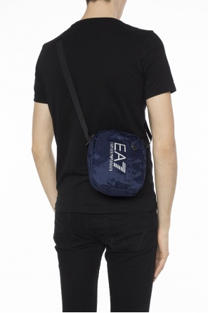 Logo-printed shoulder bag od EA7 Emporio Armani